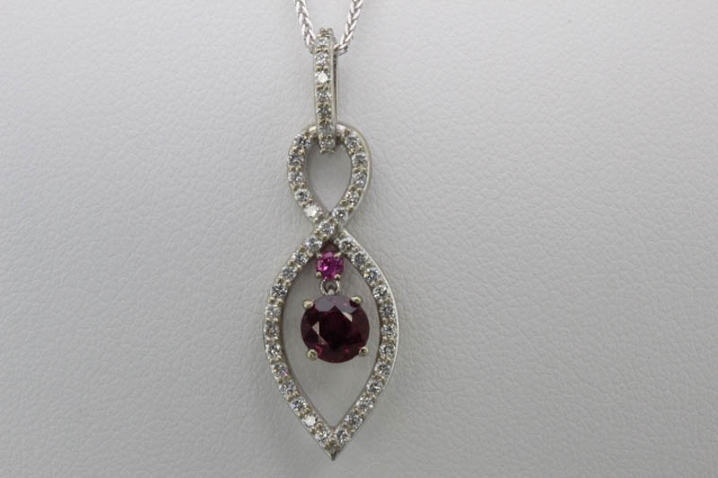 Burmese ruby and pink sapphire pendant
