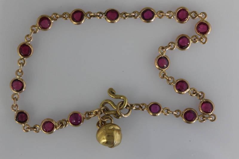 Antique Thai ruby bracelet