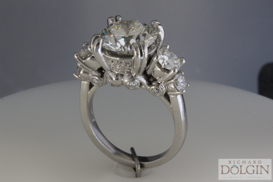 Side view of finished ring
