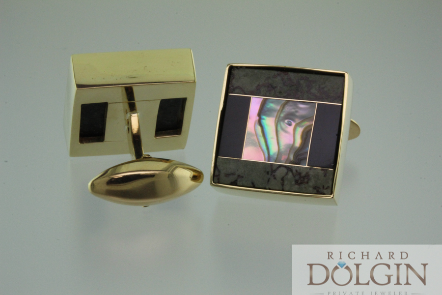 Inlaid cuff links