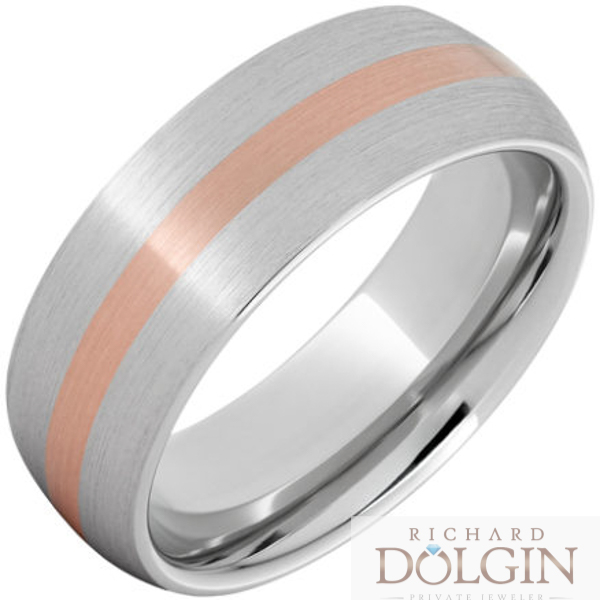 Serinium copper inlaid band