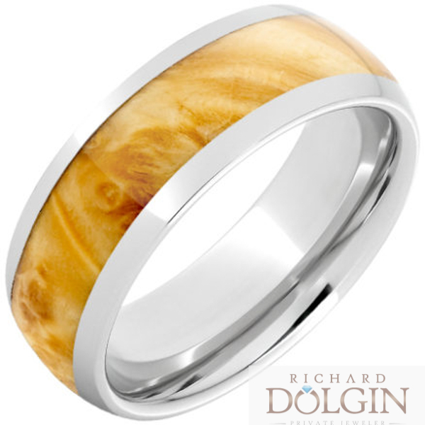 Serinium exotic box elder inlaid band