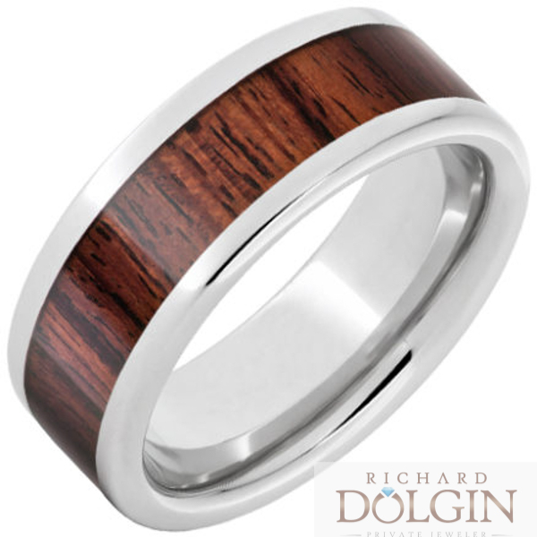 Serinium exotic Kingwood inlaid band