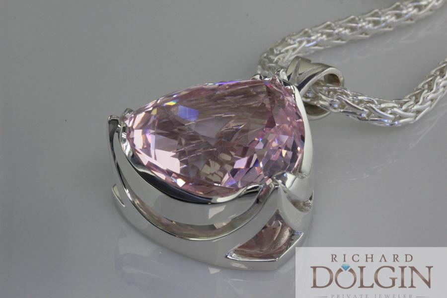 Kunzite custom made pendant