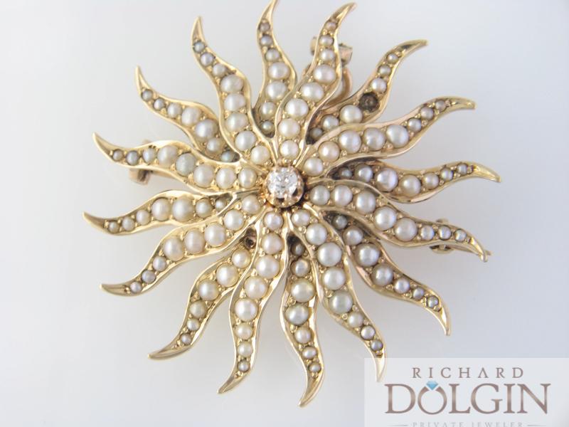 Pearl starburst pendant
