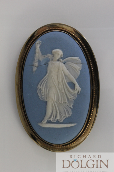 Wedgewood cameo pin