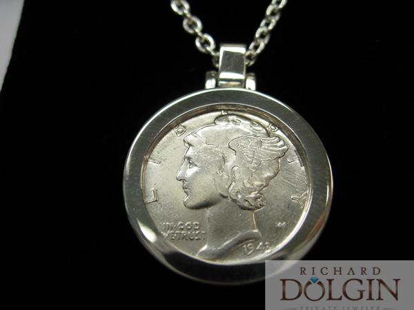 Mercury dime pendant