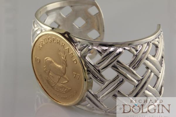 Krugerrand coin bracelet