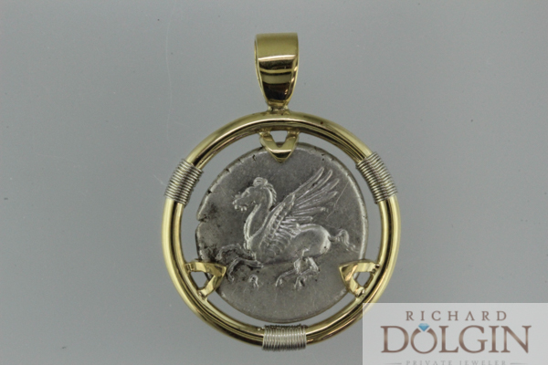 Pegasus coin pendant