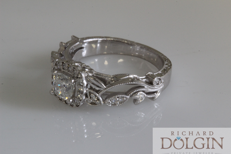 Back to nature design engagement ring