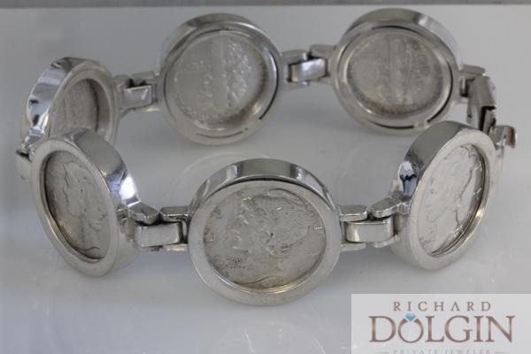 Mercury Dime Coin Bracelet