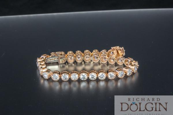Diamond and rose gold bracelet