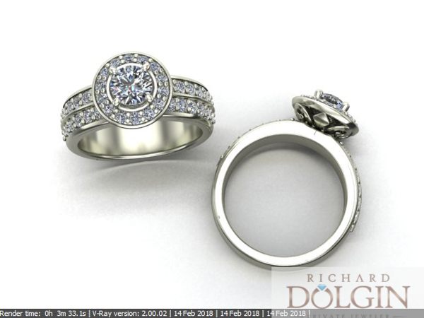 Computer generated picture of ring design