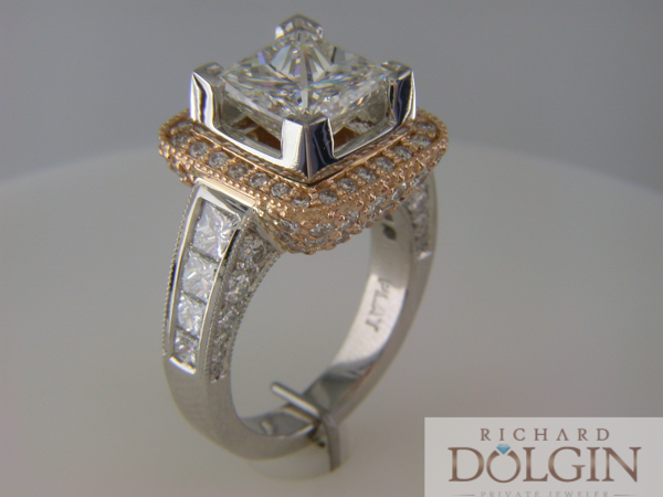 Princess cut diamond ring