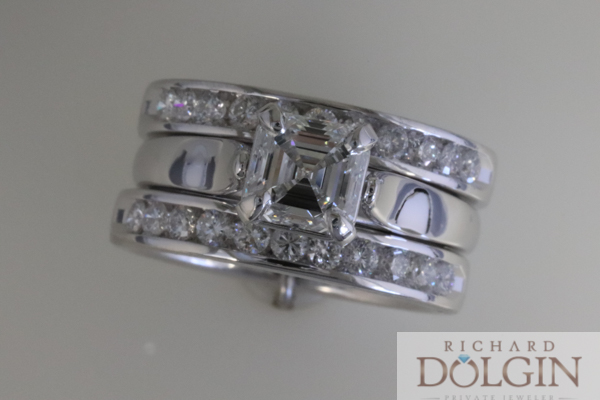 3 band diamond ring