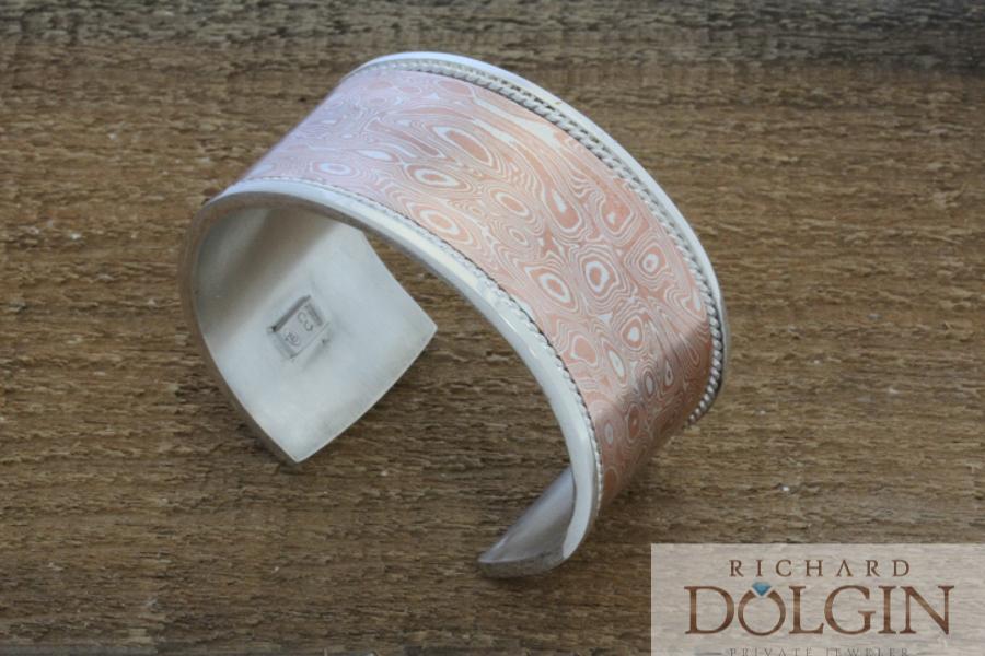 Mokume Gane wide bracelet