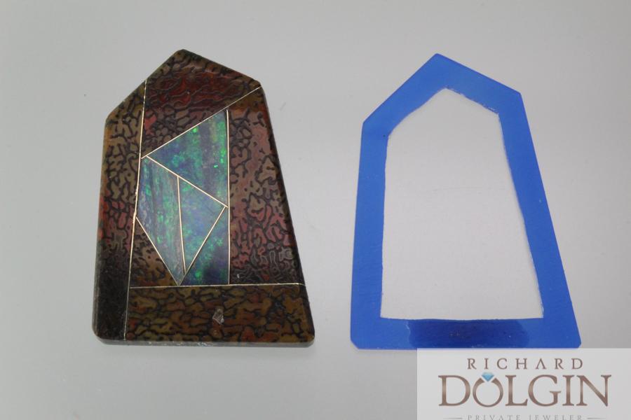 Wax model frame for pendant