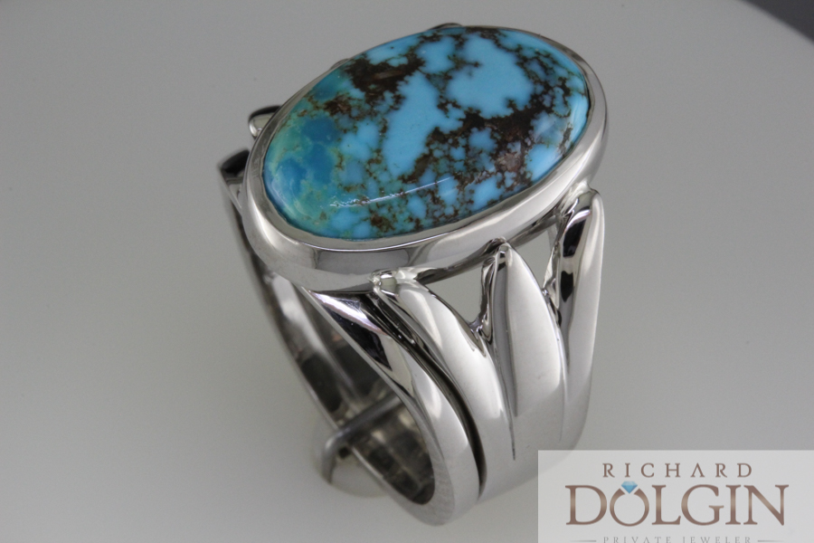 Turquoise engagement ring and wedding band