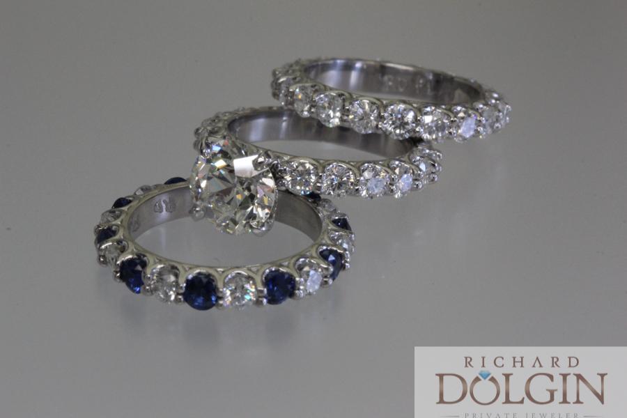 Three ring wedding set