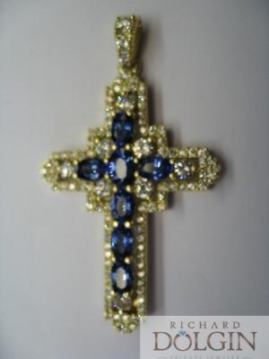 Finished custom cross pendant