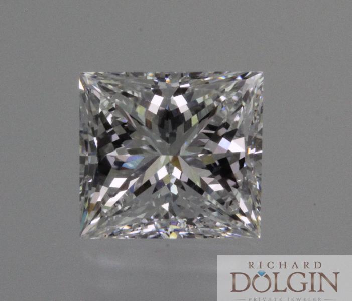 3.0 carat princess cut diamond