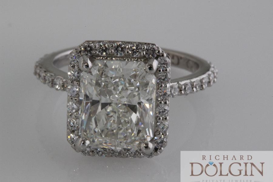 3.50 carat radiant cut diamond