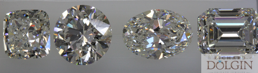 3.00 to 4.00 carat diamonds available at Richard Dolgin Private Jeweler