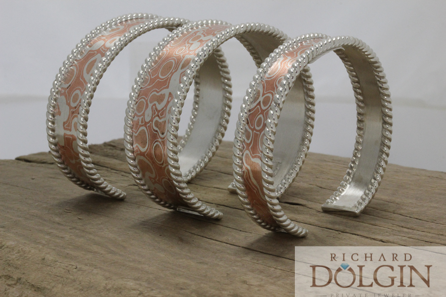 Mokume Gane bracelets
