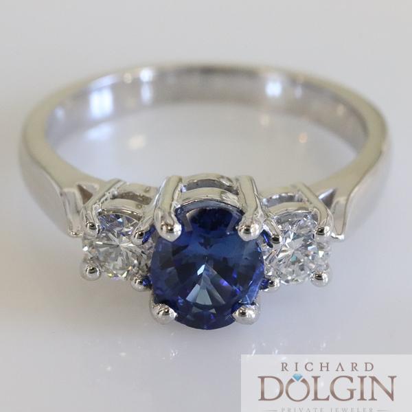 Oval Ceylon Blue Sapphire Ring