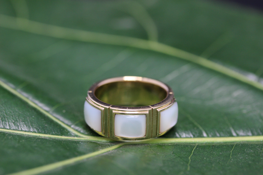 18k Pearl designer ring