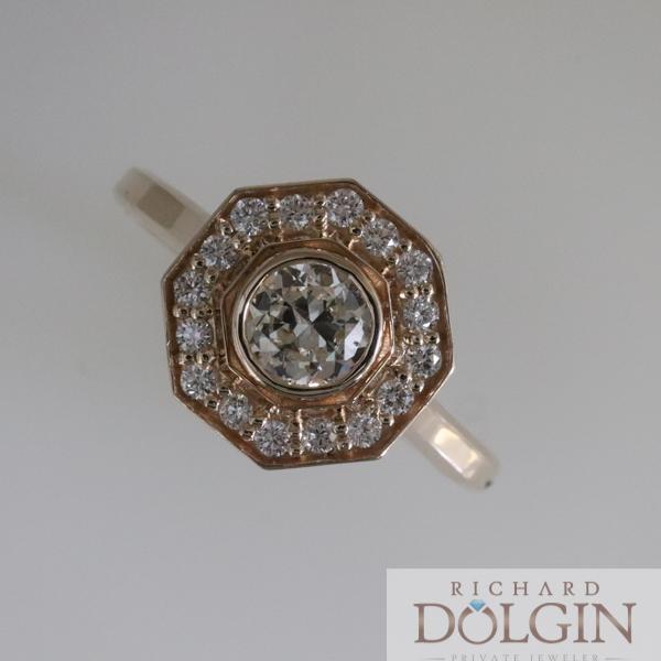 Antique halo ring