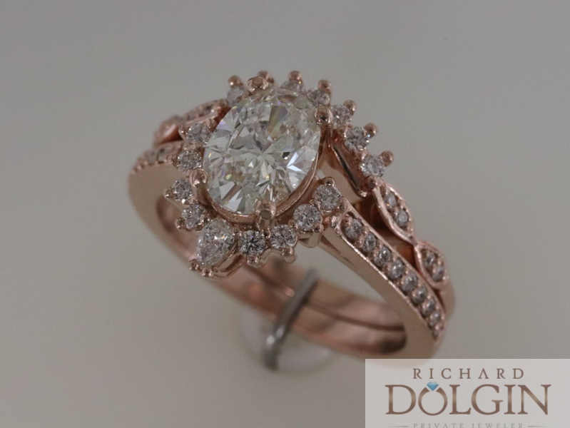 Diamond ring with updated halo