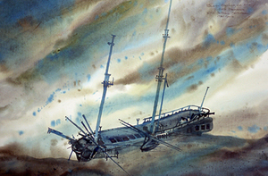 H.M.S. Ontario Shipwreck 1780 - Located & identified by Artist