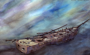 "60 Fatham Shipwreck                                              18"" x 24""                                      Artist's Collection"