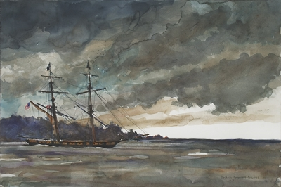 1812 Brig at Anchor (2013) 26 X 36 inches