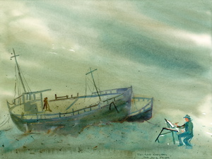 Painting Shipwrecks Under Water