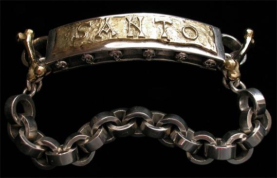 Silver and 18k Santo bracelet by D&A