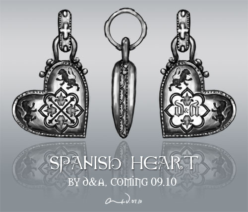 Spanish heart pendant by Demian and Alex Vazquez D&A
