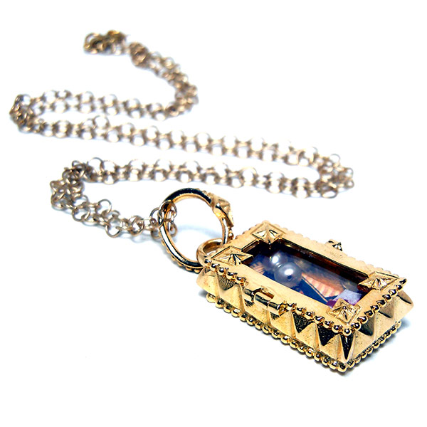 "Gold vermeil ""Raphael"" Fortuno Locket: $67"