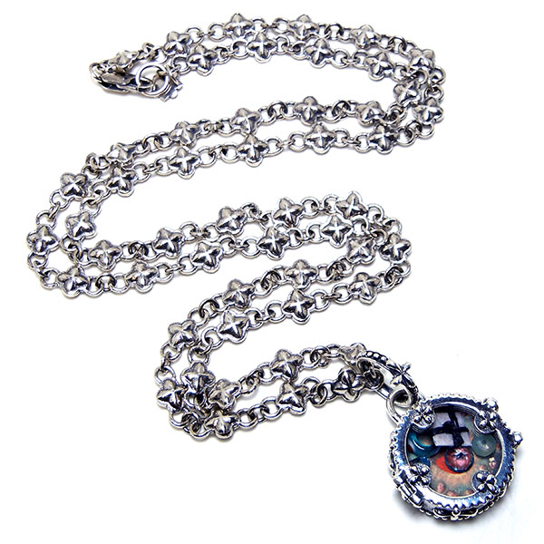 "Sterling silver ""Isis"" clover chain:  #CHN4"