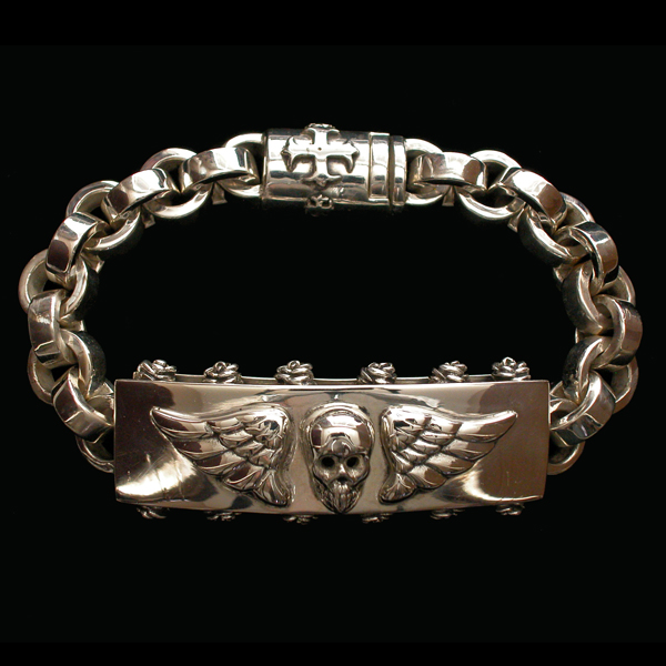 Bracelets:  Sterling silver ID bracelets & stone bead bracelets.