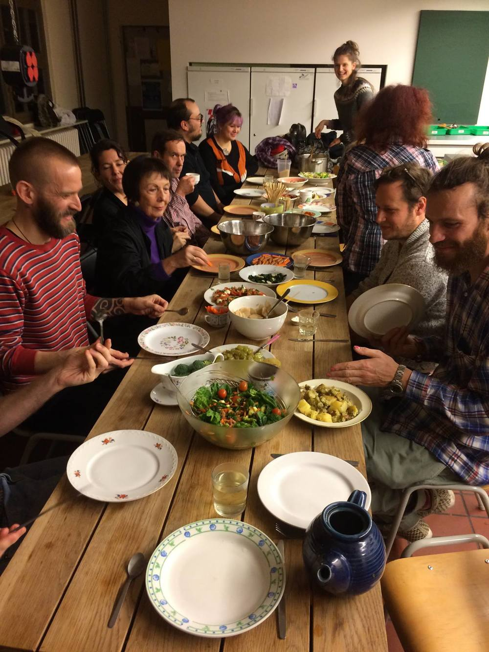 February 2015 'Practice':silent cooking together--without a recipe.