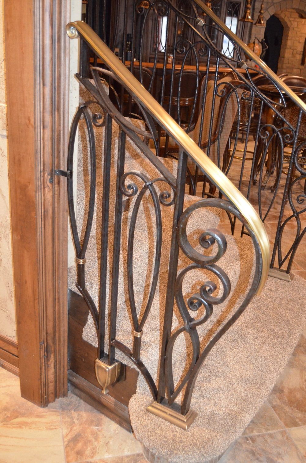Custom Railing with Bronze Castings Day Home Fremont Hills , MO