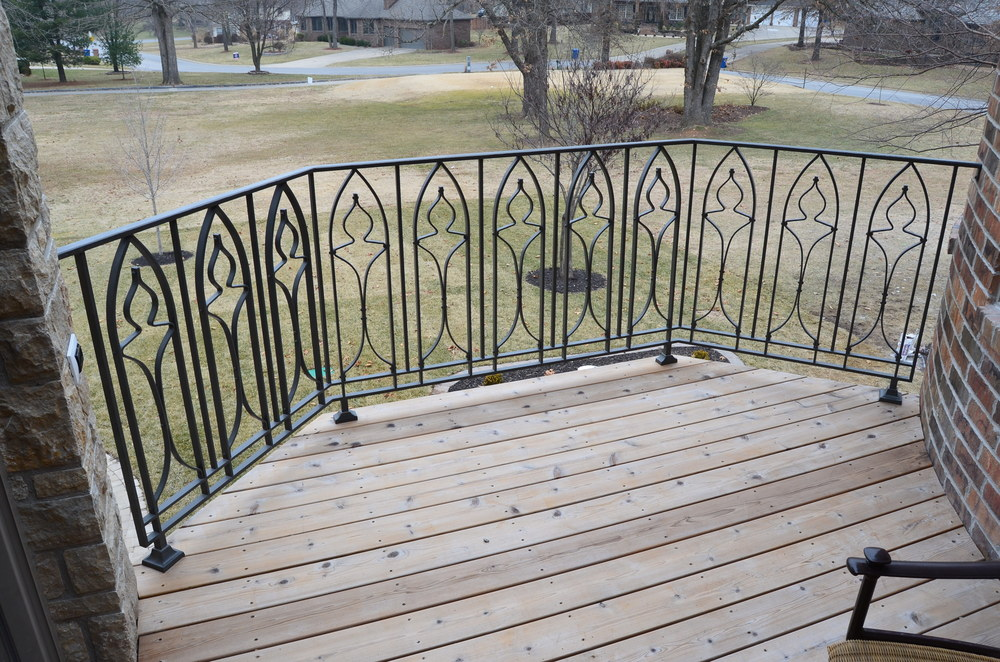 Exterior Gothic Railing Day Home Fremont Hills , MO