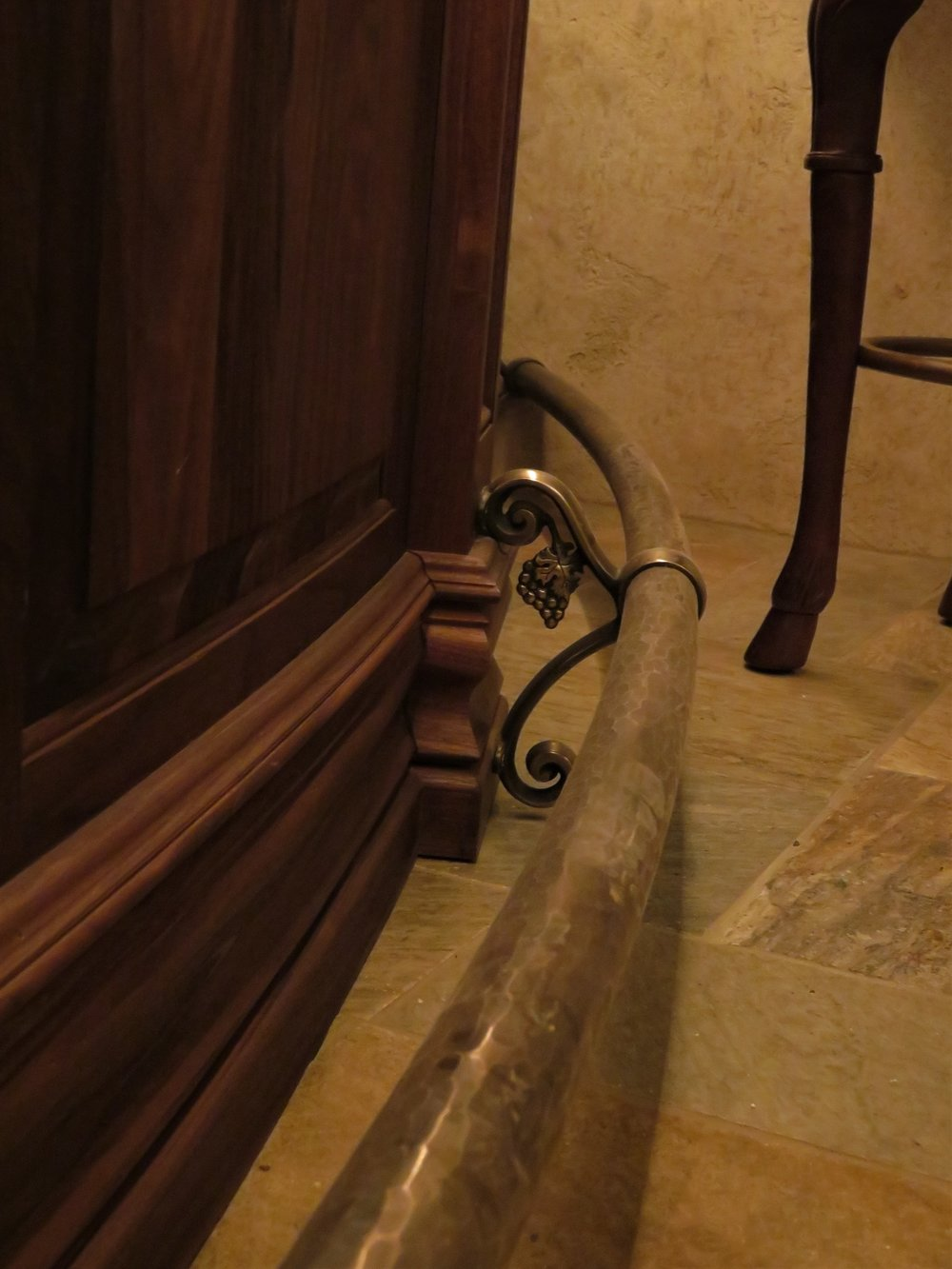 Interior Hand Rail with Hand Forged Grape Clusters