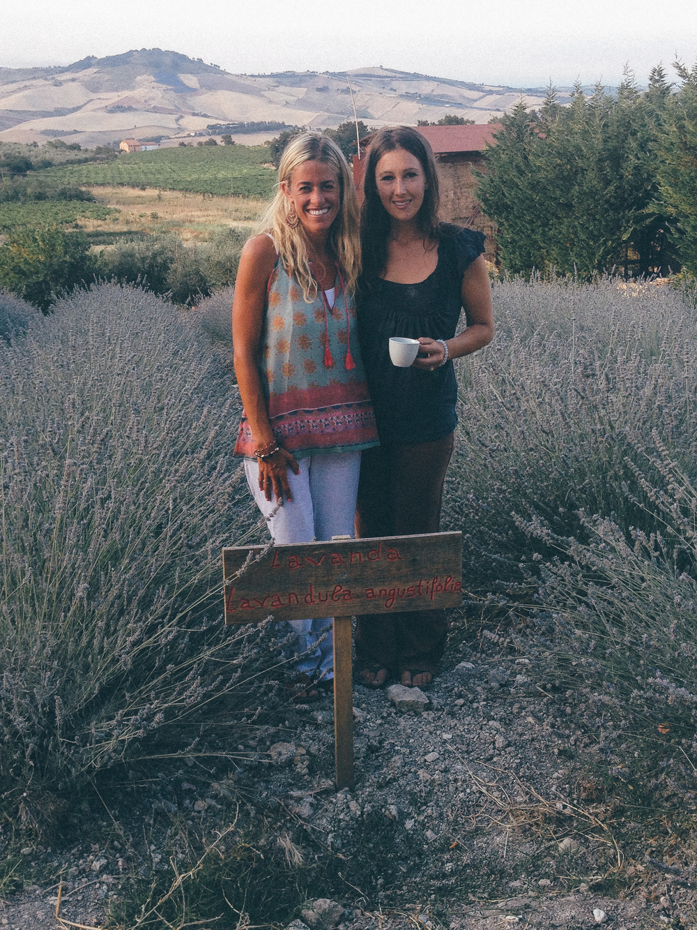 Jessica & Kate wandering the Lavender Farms during 2015 their retreat to Abruzzo.