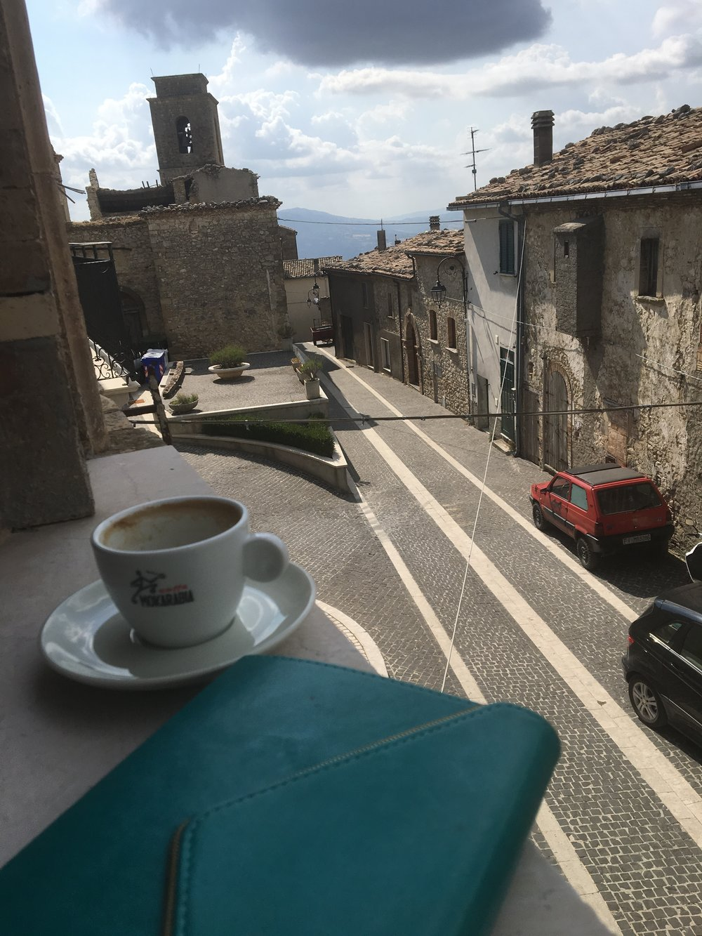 Morning Journal Time in Italy