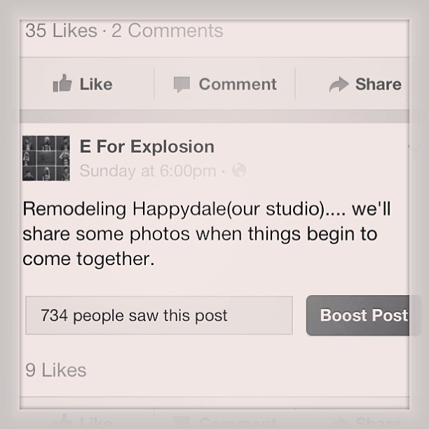Check it out! E For Explosion is not only recording but also working on their bad ass studio...hopefully we will see pictures soon! #roamerrecords #eforexplosion #studiotime #workworkwork