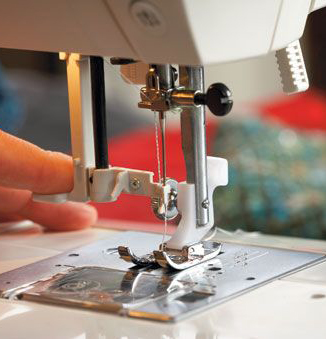 Our knowledgeable staff will help you find the perfect sewing machine for your needs. Click here to see our product selection.