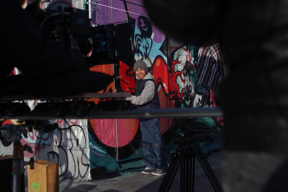 Michael Rios filming